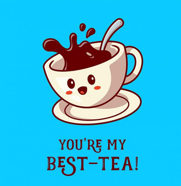 Miscellaneous Greeting Cards (Multiple designs) - Best tea 1